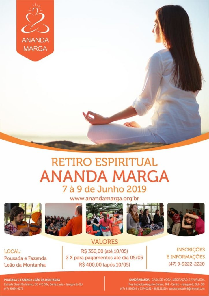 Imagem-flyer do retiro yoga jaragua do sul santa catarina 2019